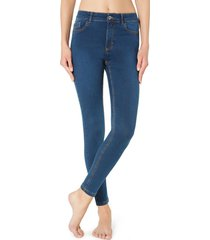 calças jegging slim sexy fit light - jeans