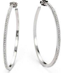 """pavé hoop earrings/2"""""""