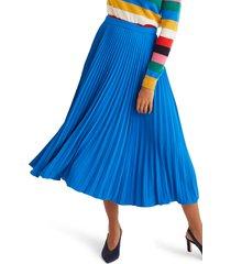 women's boden kristen pleated midi skirt