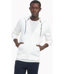 tommy hilfiger essential solid zip hoodie snow white - xxl
