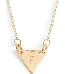 nashelle 14k-gold fill initial triangle necklace in 14k gold fill f at nordstrom