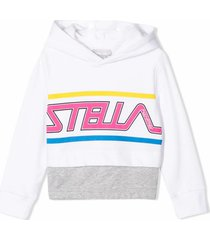 stella mccartney white organic cotton hoodie