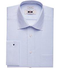 joseph abboud blue check french cuff modern fit dress shirt