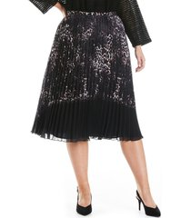 plus size women's estelle animal life pleated skirt