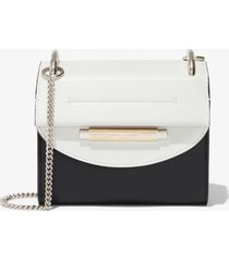 proenza schouler delta crossbody bag optic white + black one size