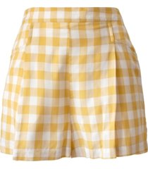bcbgeneration pull-on gingham-print shorts