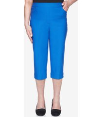alfred dunner women's missy look on the brightside allure capri pants