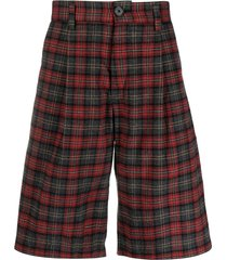 goodfight seven string plaid shorts - red