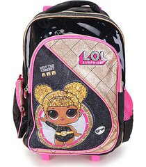 mochila escolar infantil luxcel lol feminina
