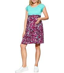 women's maternal america tie front maternity dress, size x-small - green