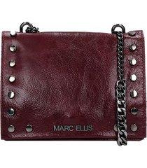 marc ellis ophelia s shoulder bag in bordeaux leather