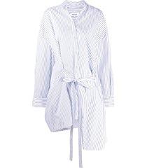enföld asymmetric belted shirt top - white