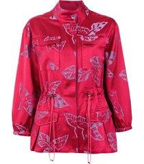 martha medeiros jaqueta parka jacquard - rosa