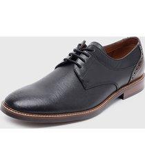 zapato casual cuero oxford negro cardinale