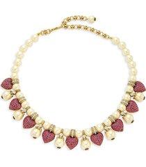 heidi daus women's goldtone & multicolored crystal beaded necklace