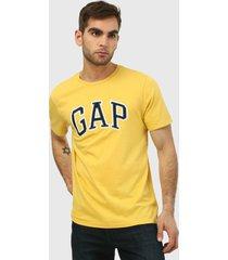 camiseta amarillo-azul-blanco gap