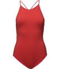 tie-back swimsuit baddräkt badkläder röd filippa k soft sport