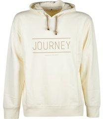 brunello cucinelli journey print hooded sweatshirt