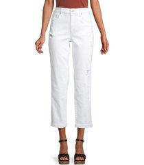 joe's jeans women's the niki boyfriend jean - white - size 26 (2-4)