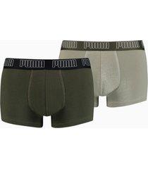 basic herenboxers 2-pak, groen, maat s | puma