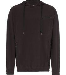 gramicci pertex stretch hoodie - black