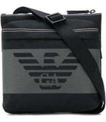 emporio armani bolsa tiracolo com logo - preto
