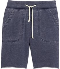 alternative apparel victory modern fit burnout french terry shorts dark navy