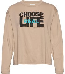 janis long sleeve t-shirts & tops long-sleeved beige wood wood