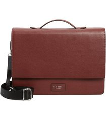 men's ted baker london housed leather satchel -