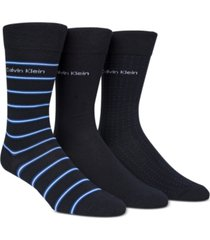 calvin klein men's 3-pack stripe & dot dress socks