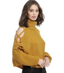 sweater nrg amarillo - calce oversize