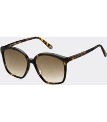 tommy hilfiger women's mod sunglasses dark havana -