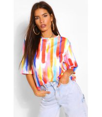 stripe tie dye oversized t shirt, orange