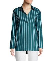 beckett mediterranean stripe blouse