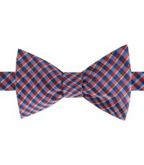 tommy hilfiger men's york mini-plaid bow tie