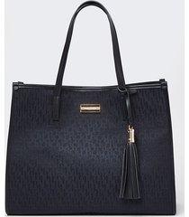 river island womens black ri jacquard square shopper bag