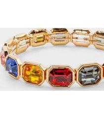 ayesha emerald cut stretch bracelet in bright - multi