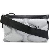 dolce & gabbana palermo tecnico padded belt bag - grey