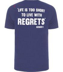 camiseta masculina collecti - azul