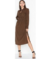 pieces pchenny ls midi dress loose fit dresses