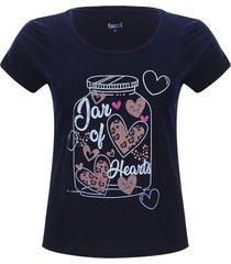 camiseta descanso mujer jar of hearts color azul, talla l