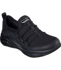 zapatos mujer  arch fit - lucky thoughts negro skechers
