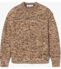 proenza schouler white label mixed yarn sweater 10721 peach multi/yellow l