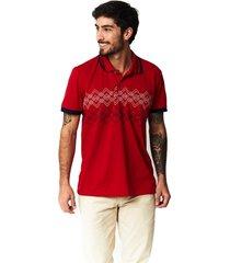 camiseta tipo polo-puntazul-roja-41438