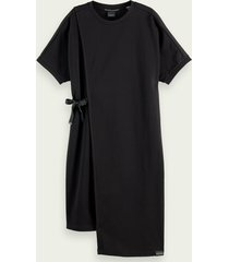 scotch & soda 100% cotton short sleeve midi t-shirt dress