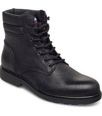 classic tommy jeans lace up boot snörade stövlar svart tommy hilfiger