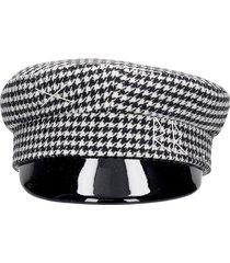 ruslan baginskiy houndstooth hats in black wool