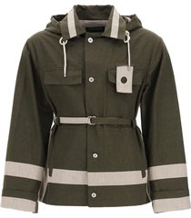 craig green two-tone utility jacket in cotton