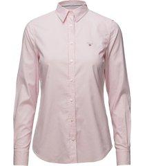 stretch oxford solid overhemd met lange mouwen roze gant