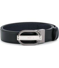 bally oval buckle belt - black
